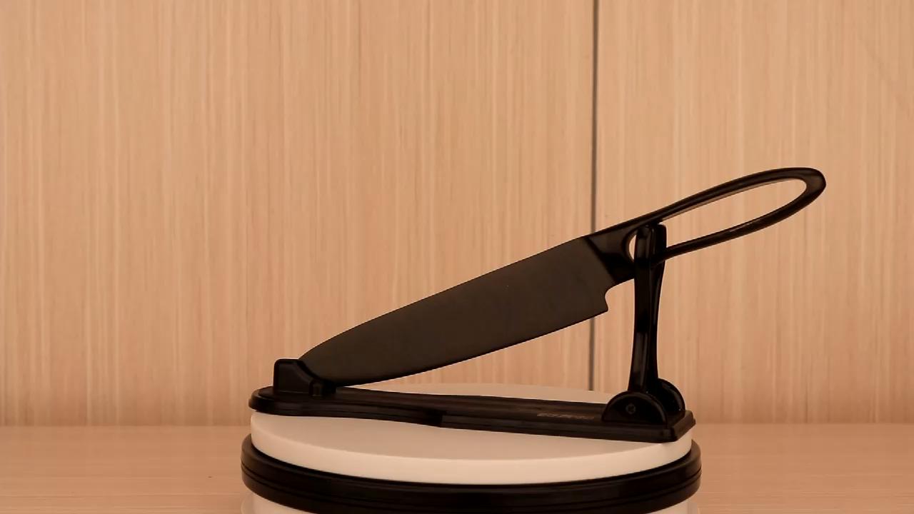 아마존 핫 세트 블랙 티타늄 디자인 요리사 나이프 코팅 8 인치 스틱 블랙 티타늄 주방 나이프