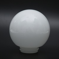 Wholesale Cheap Milk White Opal Shin Glass Globe Lamp Cover Light Shade with Glass Screw for outdoor lighting
