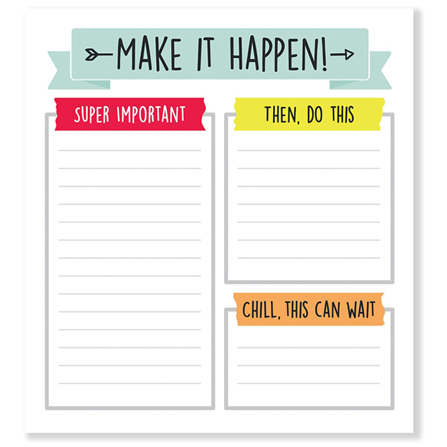 Myway Hot Sale Custom Personailized To Do List Printing Schedule Planner Notepad