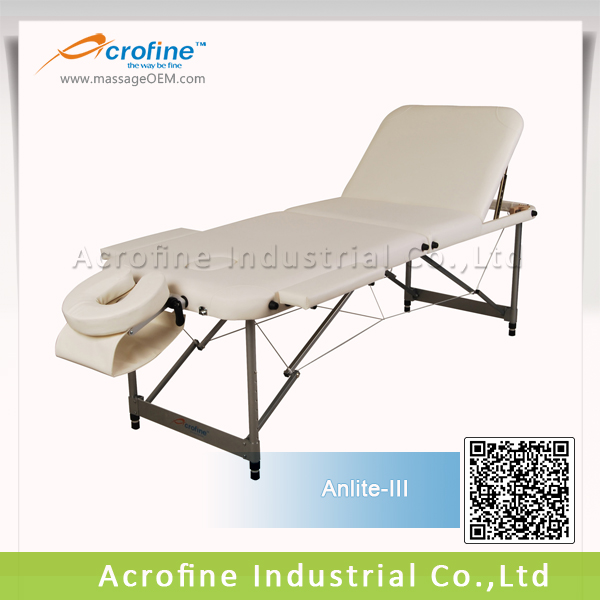 Acrofine mobile massage table Anlite-III with beige color
