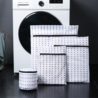 Custom foldable commercial travel washable storage mesh net cloth bra washing laundry bag with zip