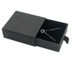 Custom Logo Black Cardboard Jewelry Gift Box