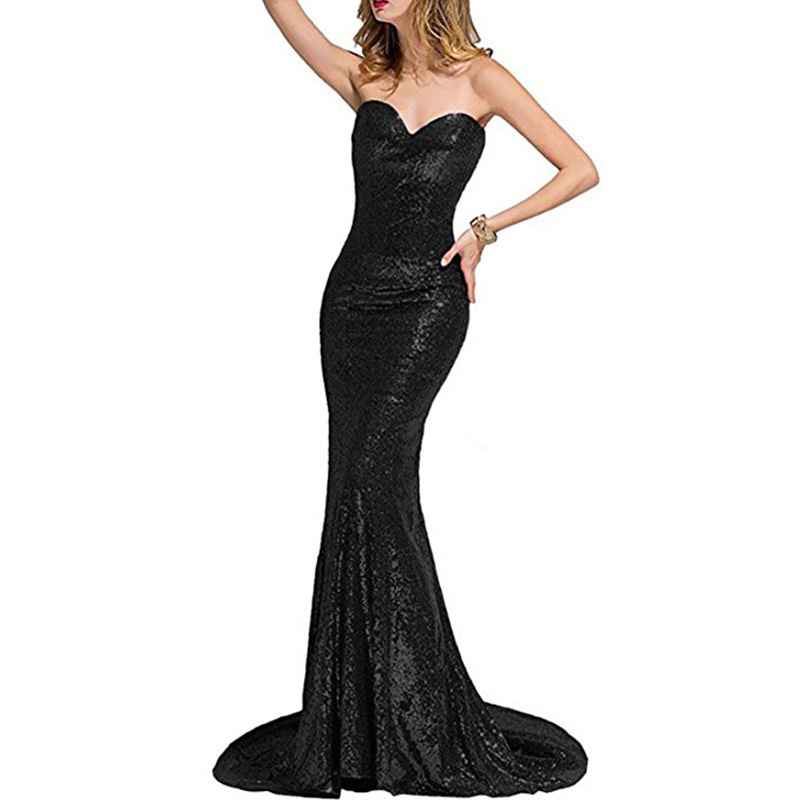 2019 hot sell sexy fishtail gown evening dress fishtail dress wholesale