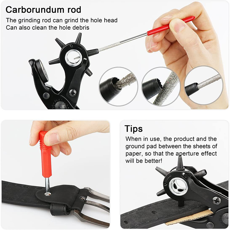 Leathercraft Punching for Leather Hole Punch for Belts Stitching Plier Perforator Eyelet Piercer Leather Craft Tools