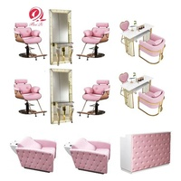 Modern styling chair saloon furnitures pink hair chair salon beauty