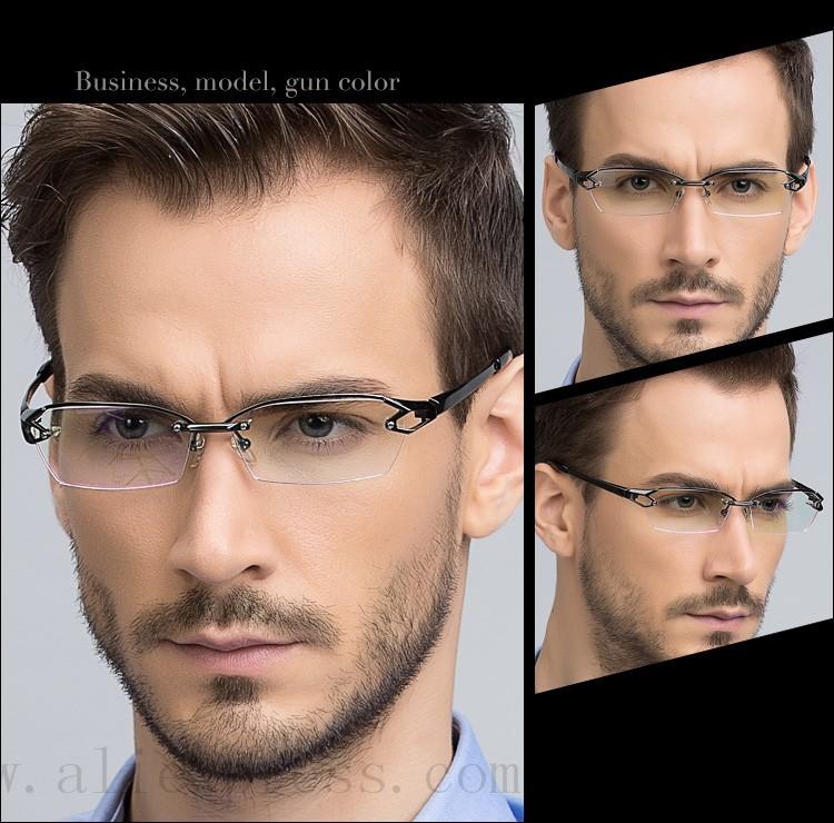 Fonex — lunettes en titane pur sans bords, pour homme, monture optique, costume de lecture, collection 2020