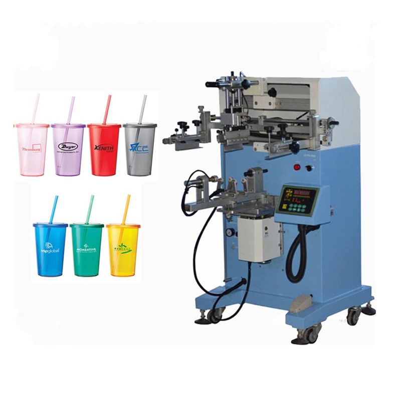 Round Semi Automatic Silk Screen Printing Machine For Plastic Bottles