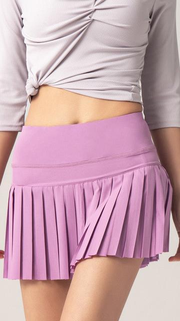 Wanita Olahraga Tenis Gym Workout Pakaian Pendek Lipit Yoga Rok Dengan Saku Dalam