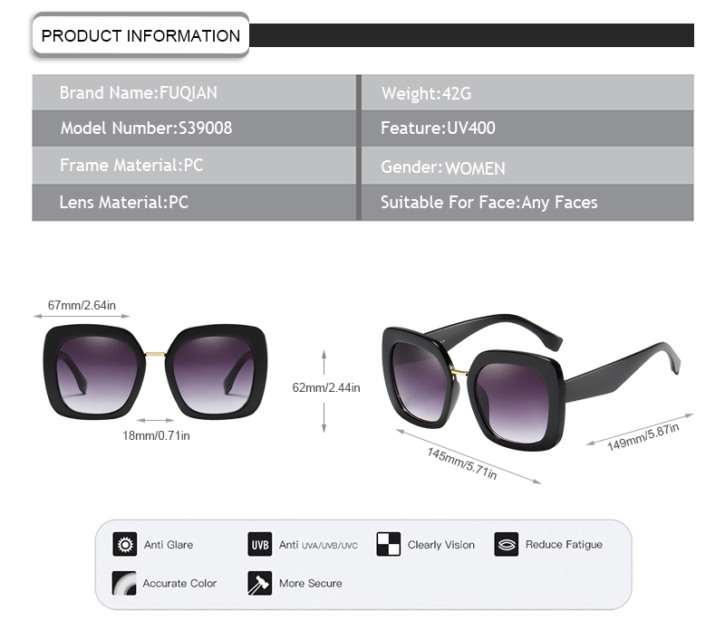 Fuqian Top fast track sunglasses for business-6