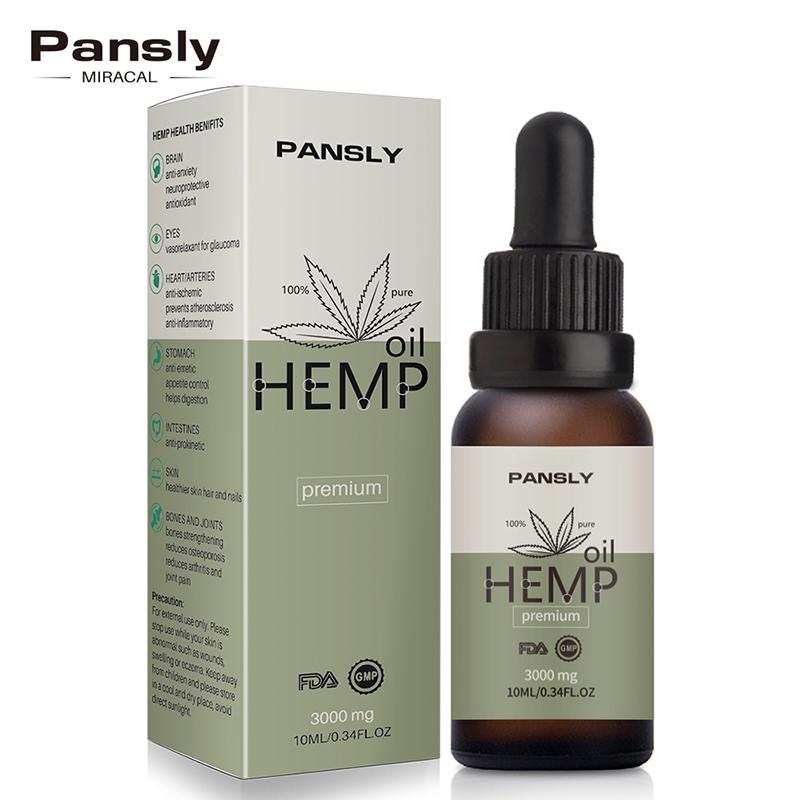 צמחים טיפות גוף להקל על לחץ אורגני קנבוס שמן טיפוח עור פנים גוף טיפול כאב הקלה אנטי Anxiet חיוני זרעי קנבוס שמן