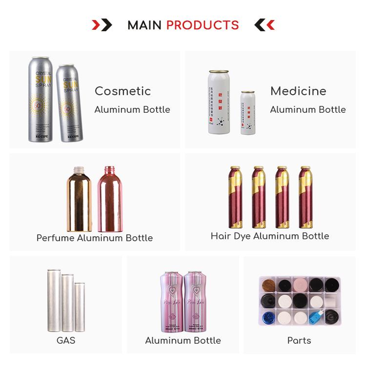 Formato personalizzato Delicato Portatile di Alluminio Vuota Spray Aerosol Può Per La Medicina