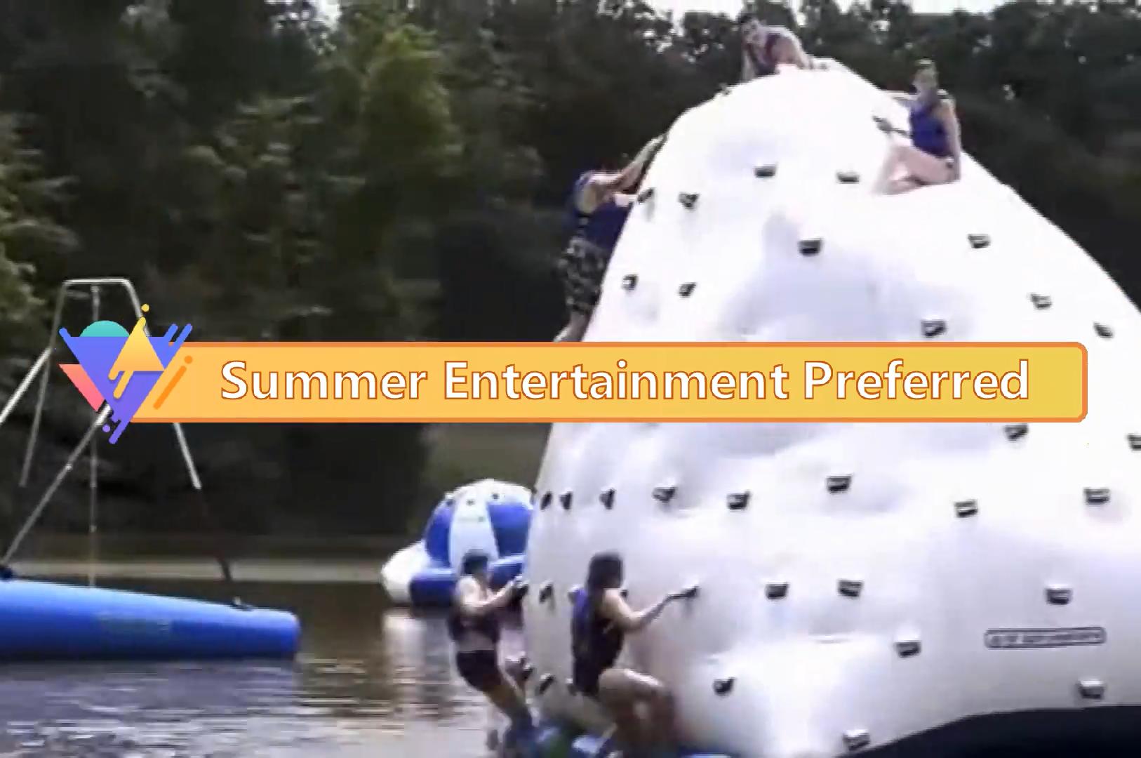 Factory sale inflatable iceberg water toy Climbing Iceberg