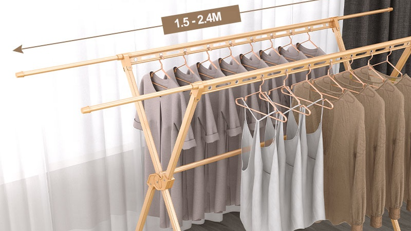 Heavy Duty Commercial Grade Size Clothing Hanging Garment Coat Clothes Storage Rack