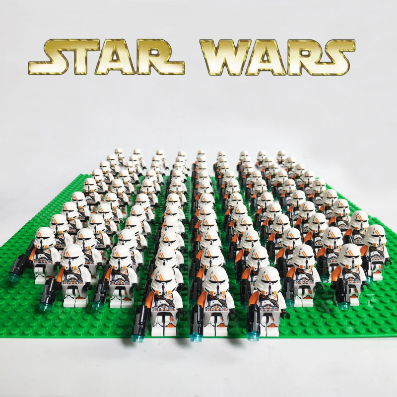 Compatibile legoe Stella sw523 Wars 75036 Airborne Clone Trooper mini figures Building Blocks kid mini giocattolo