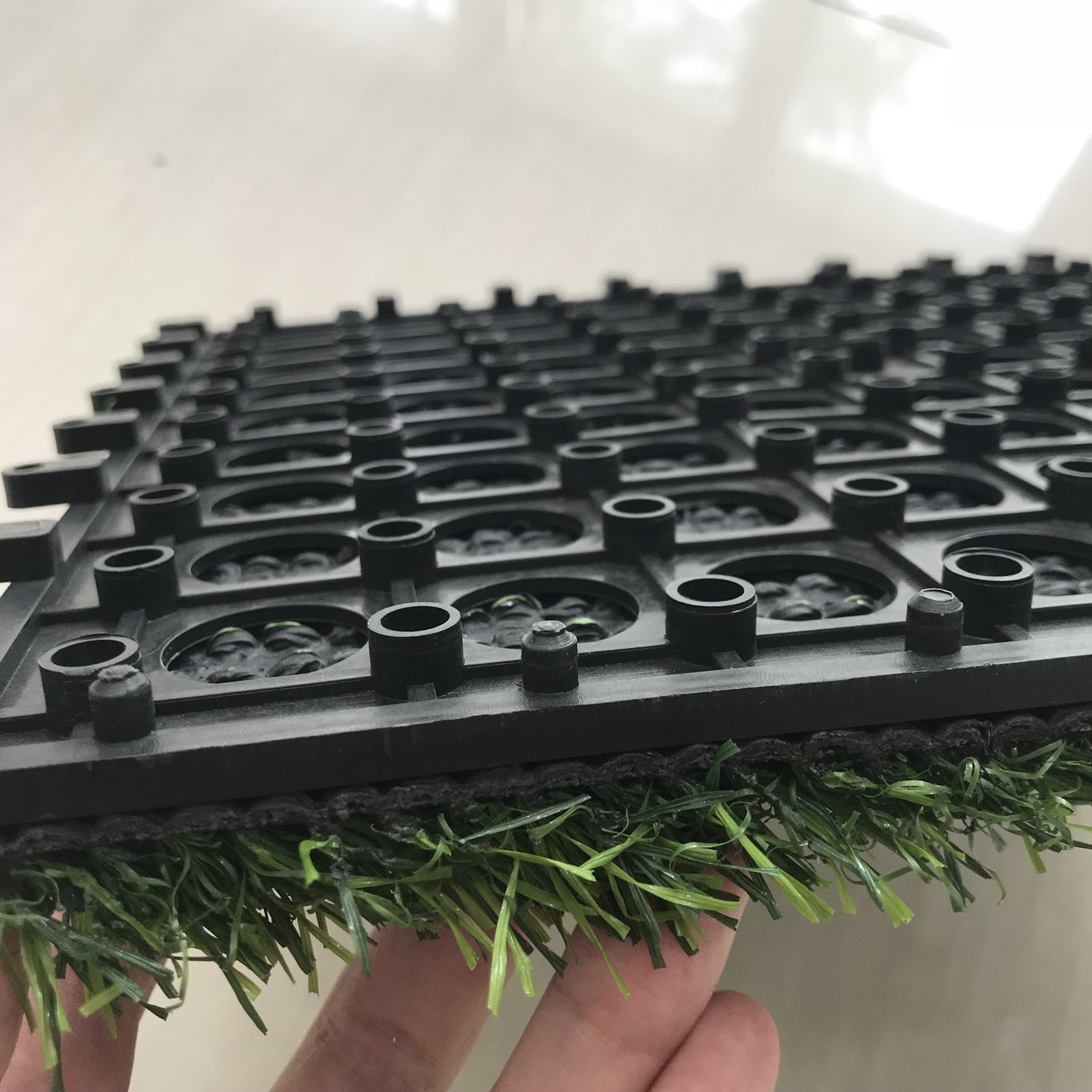 Indoor artificial landscaping grass/synthetic turf interlocking artificial turf