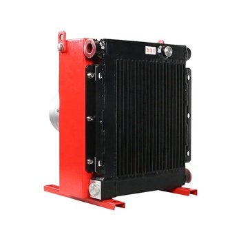 Haweisi Big DXB-15 4*2 KW Air Hydraulic Oil Cooler For Hydraulic Station Heat exchanger