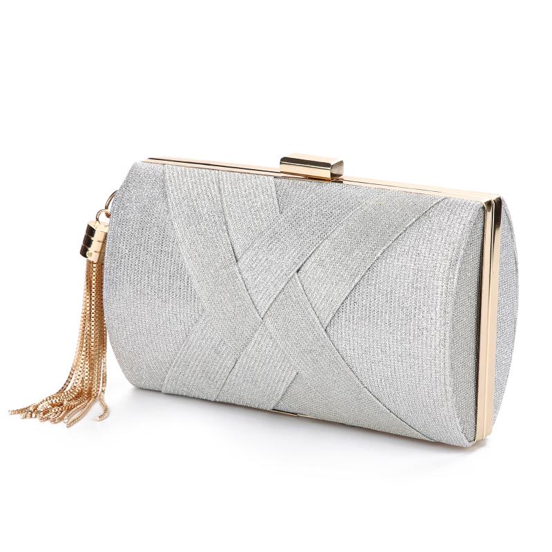Женская сумочка Luxy Moon, клатч для свадьбы, вечерняя сумочка, Сумочка с блестками для невесты, роскошная элегантная сумка на плечо с кисточкам...(Китай)