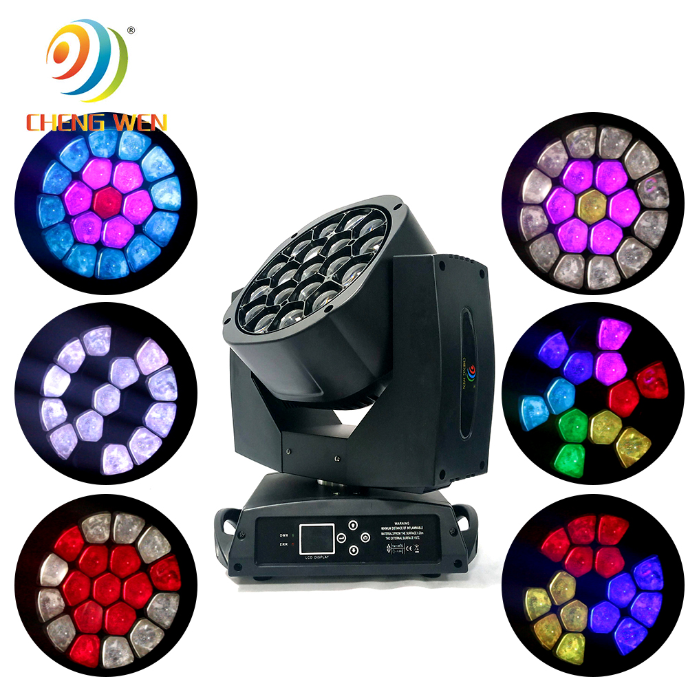 Big bee eye 19x15w RGBW 4in1 zoom wash led Head moving light for stage dj disco show