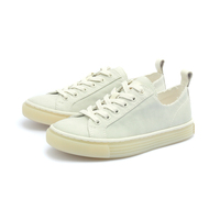 bulk unisex plain white slip on canvas casual women ladies shoes sneakers
