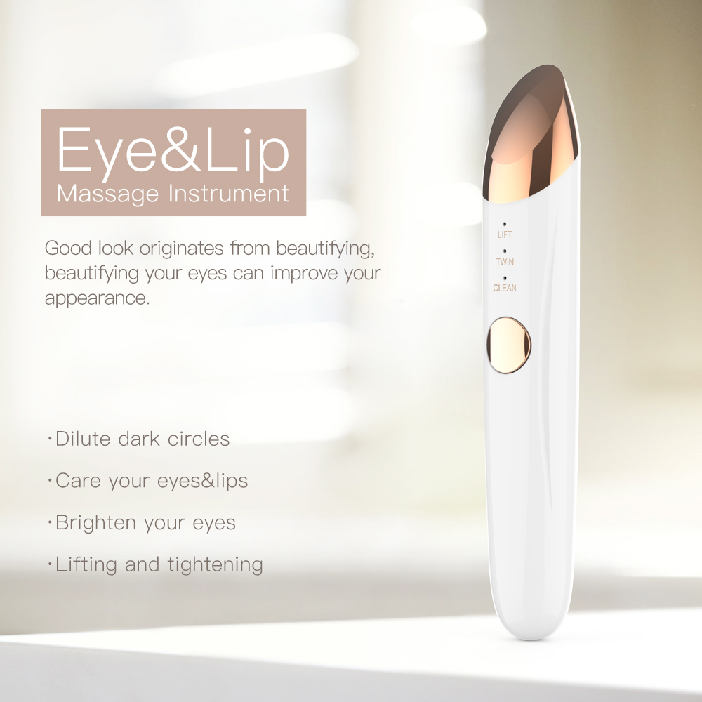 mini electric Anti-wrinkle eye beauty device with vibration Portable eye massage pen for eye and lip care