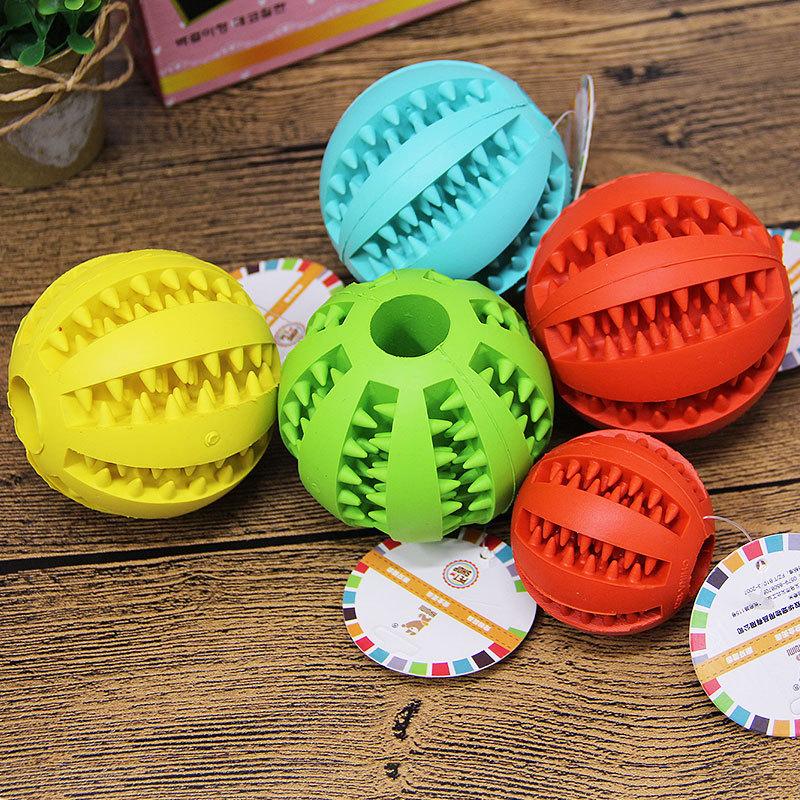 Nuovo animale domestico giocattolo educativo ha un sapore di menta piperita naturale di Gomma anguria pet toothwashing palla