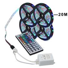 Светодиодный светильник RGB 3528 SMD гибкая лента fita светодиодный светильник RGB 5 м 10 м 15 М лента диод DC дистанционное управление(Китай)