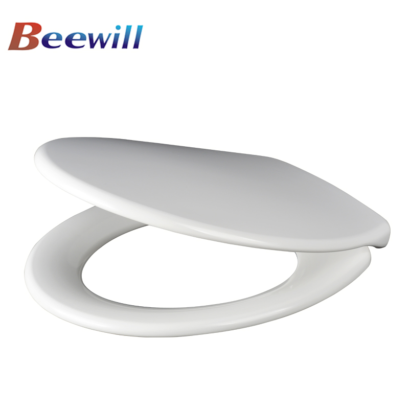 Universal size UF soft close custom hinge system urea toilet seat