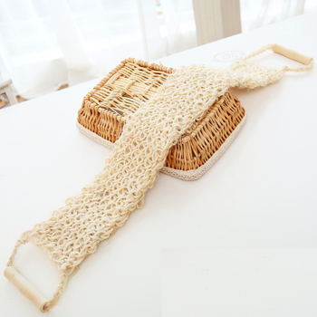 Sisal Bath Belt Natural Exfoliating Washing  Back Scrub Strap