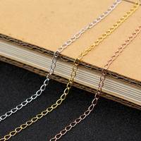 Wholesale 925 sterling silver accessory bulk semi-finished chain in flat ROLO pattern for jewelry making