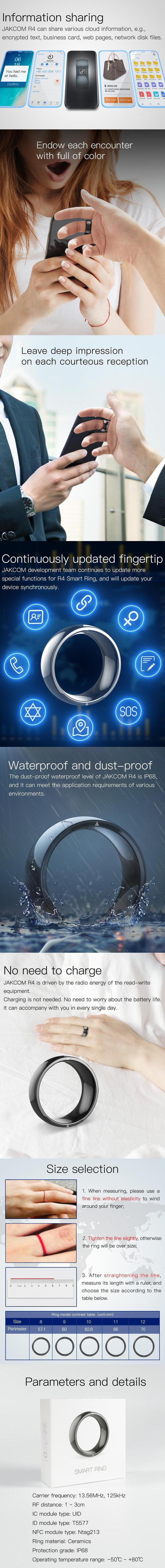 JAKCOM R4 Smart Ring New Product of Smart Ring 2020 as b57 smartwatch smart bracelet fitness screen touch watch 4g 3d glasses