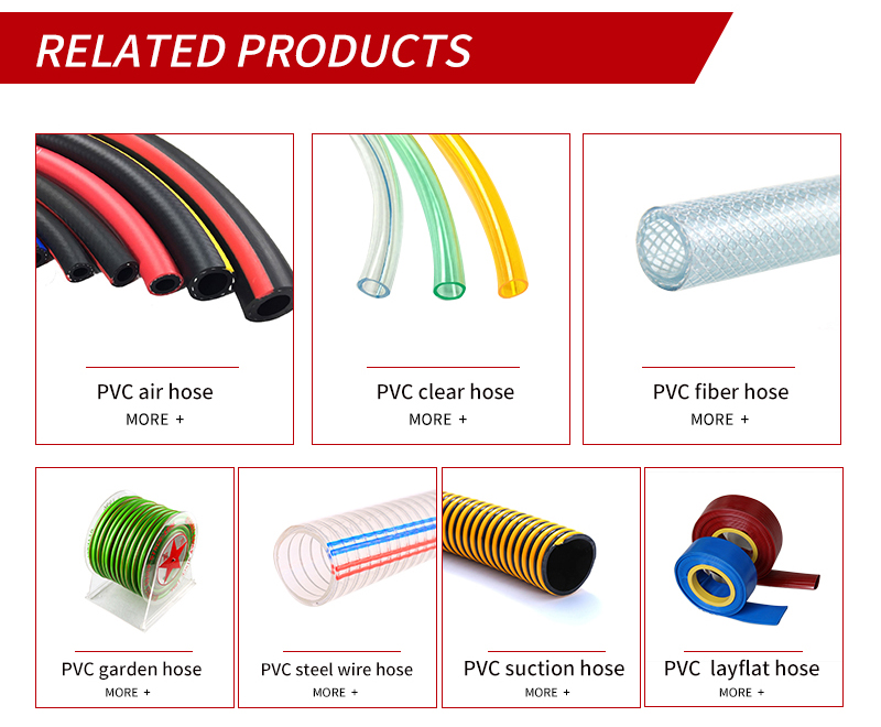 Factory Supply anti-static hose flexible spring hose transparent pipe pvc steel wire  pipe of Low Price