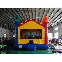 Outdoor commercial big colorful inflatable bouncer bounce house for sale