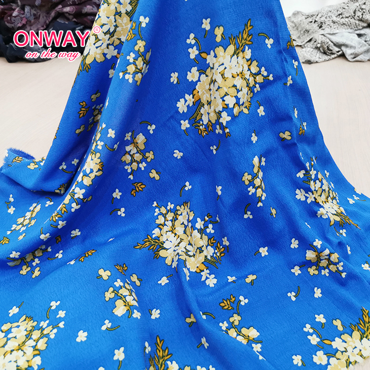 Beautiful 2020 dress floral breathable rayon viscose crepe print fabric