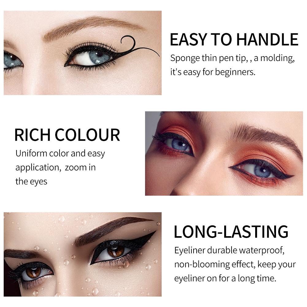 Original Black Tattoo Waterproof Sweatproof Longlasting Antismudge Fast Dry Liquid Eyeliner Pen For Eye Makeup