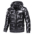 Customized Winter Windbreak Warm Puffer Down Jacket Light Shiny Down Coat For Men