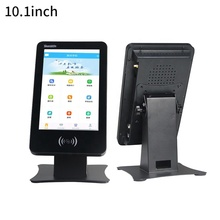 Wall Mount Portrait Display 10.1 นิ้ว Interactive Touch Kiosk Android NFC/RFID card reader สำหรับ Attendance