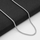 Gift Jewelry 304 Stainless Steel Square Pearl Titanium Steel Jewelry Square Chain for Necklace
