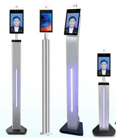 8 inch face recognition machine measurement body temperature system facial recognition access control