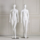 Base Stand Fiberglass White Model Female Torso Body Fixed Mannequin