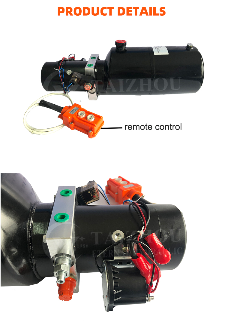 Móvil portátil Mini unidades de potencia de unidad de energía hidráulica 220V Dc 12 voltios 24V 48V 48V Motor de la bomba de Crédito vendedor