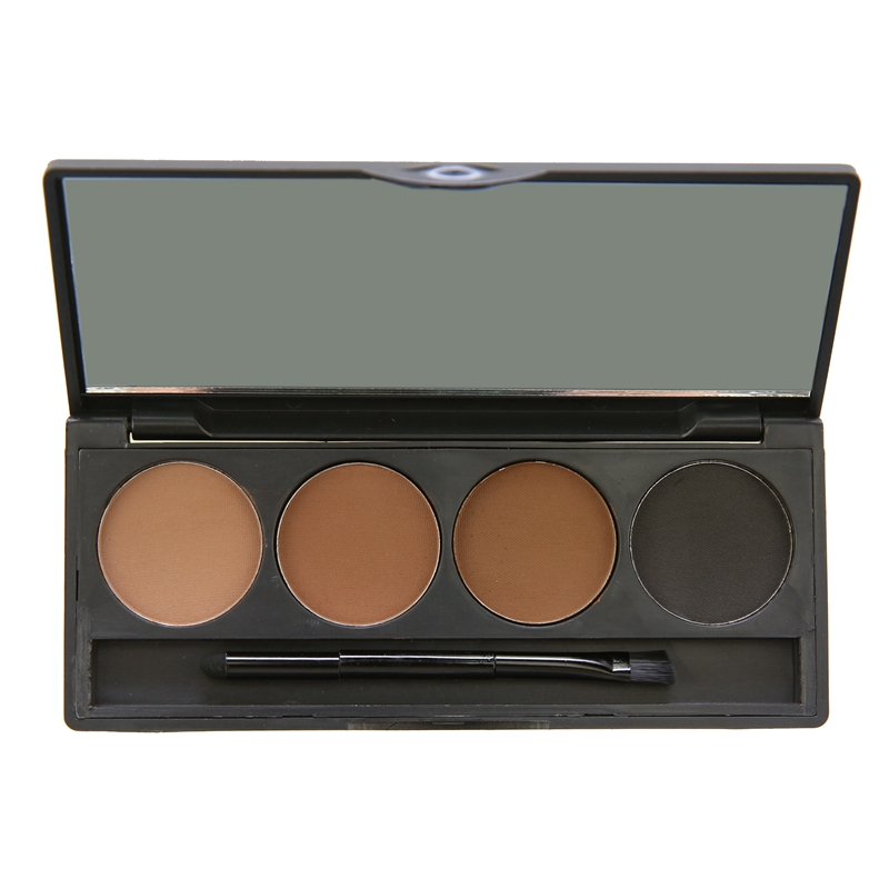 New Eyebrow Powder 4 Colors Eyebrow Pencil Makeup Palette Waterproof Eyebrow Brushes Inside