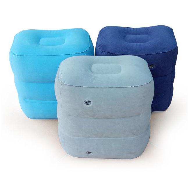 Amazon Hot Sale Airplane Travel Footrest Cushion Leg Rest Pillow Adjustable Inflatable Foot Rest Pillow