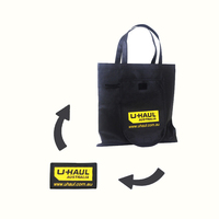 Custom Eco Friendly Fabric Recycle Tote Non Woven Foldable Reusable Shopping Bag With Logo Print