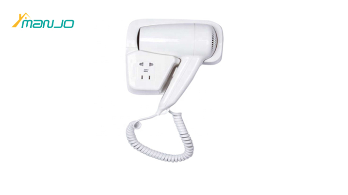 Hotel Appliance bathroom 1600W Abs Plastic Black wall mounted Hotel Hair Dryer for Hotel Room