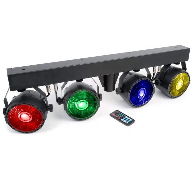 Grosir DJ Lampu Lampu Panggung LED 4X30 W COB RGB 3in1 Par LED Kit Pesta Disko Set 4 sistem DJ Bar LED Panggung Acara