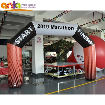 Commercial inflatable arch airtight finish arch sport entrance gate for sale