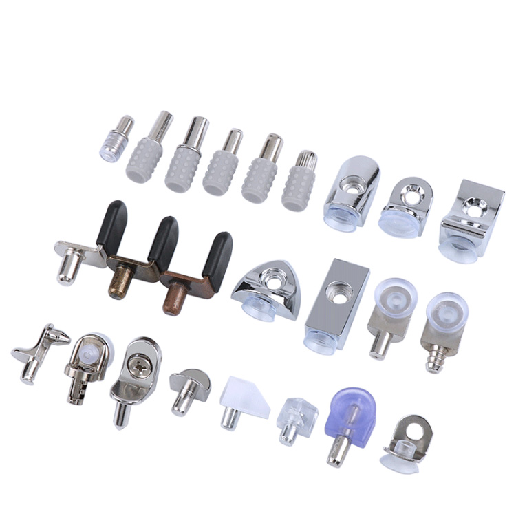L-Shaped Shelf Support chrome Plated Shelf Bracket Pegs for Furniture Bookcase  Cabinet Closet Shelf Pins Support with Hole