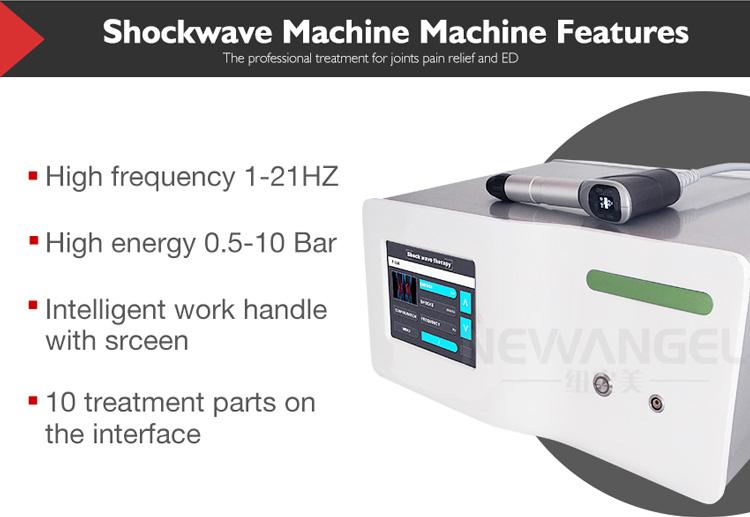 Pneumático máquina de terapia por ondas de choque de baixa intensidade portátil ed