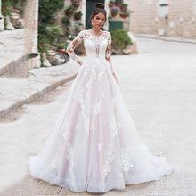 Сексуальные свадебные платья Русалочки для женщин с v-образным вырезом, кружевной аппликацией, открытой спиной, пляжные свадебные платья ...(Китай)