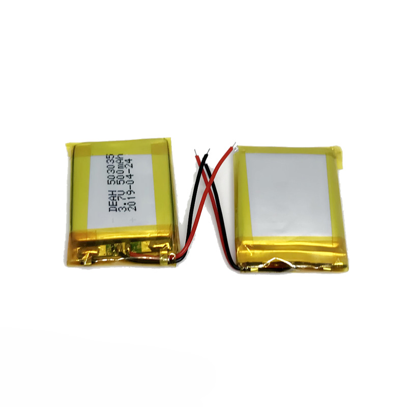 battery 503035 3.7v 500mah lithium polymer battery with UN38.3/MSDS ,KC certificates